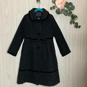 Rothschild Girls Long Dressy Coat w Velvet Trim